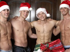Christmas Strip Poker from 1 Gay Pass