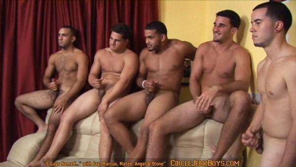 naked men circle jerk