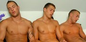 Trio Jerk Off Action from Visconti Triplets