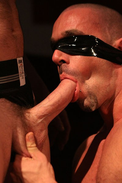 Blindfolded eye anther gay