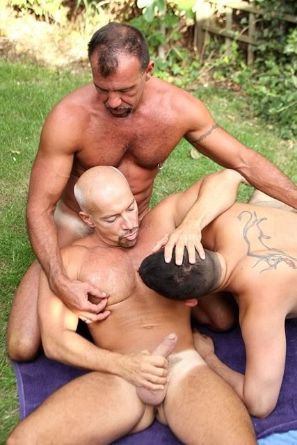 Outdoor three way sex something also