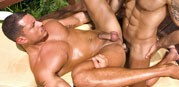 Latino Hunk 3way from Sex Gaymes