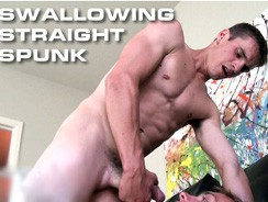 Swallowing Straight Spunk from Suck Off Guys