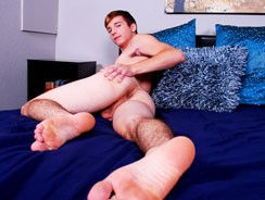 gay sexhome - Caleb Reece Busts A Nut from College Dudes