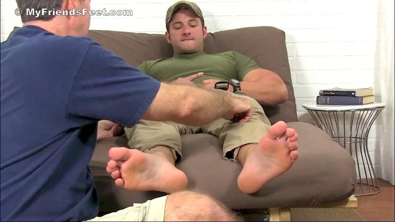 image Foot slave for friends poor little jade