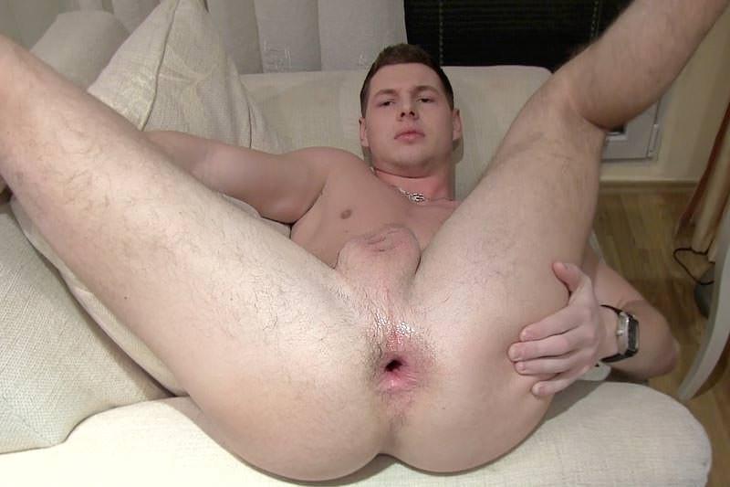 gay growing flacid to hard uncut cock