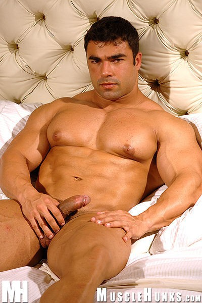 hunks erections Muscle with