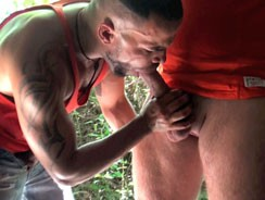 gay sexhome - Two Big Beefy Blokes Fuck Out from French Lads