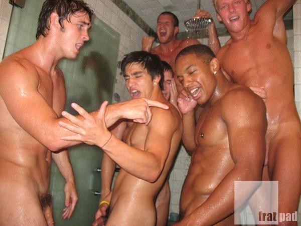Naked shower karaoke